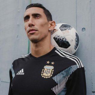 """Maillot Extérieur """"away"""" Argentine Mondial 2018 porté par Angel Di Maria"""