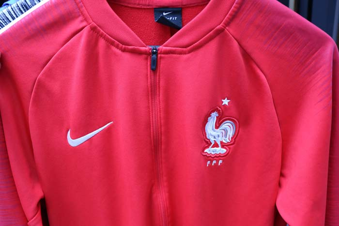 Veste Avant Match France Mondial 2018 rouge