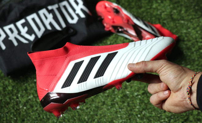 adidas Predator 18+ Unboxing Foot-Inside