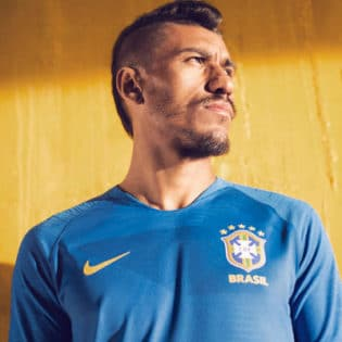 maillot Bresil Bleu Exterieur Mondial 2018
