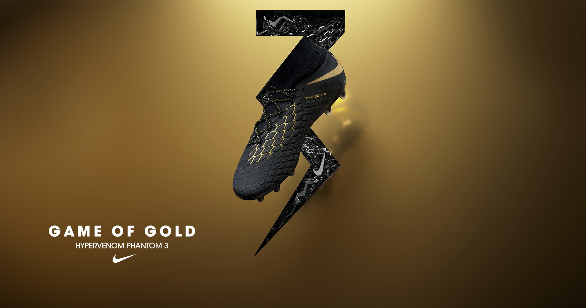 Chaussures Nike Hypervenom Game of GOLD