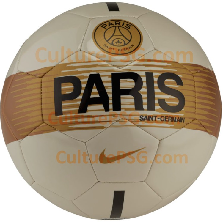 ballon PSG 2019 beige et or
