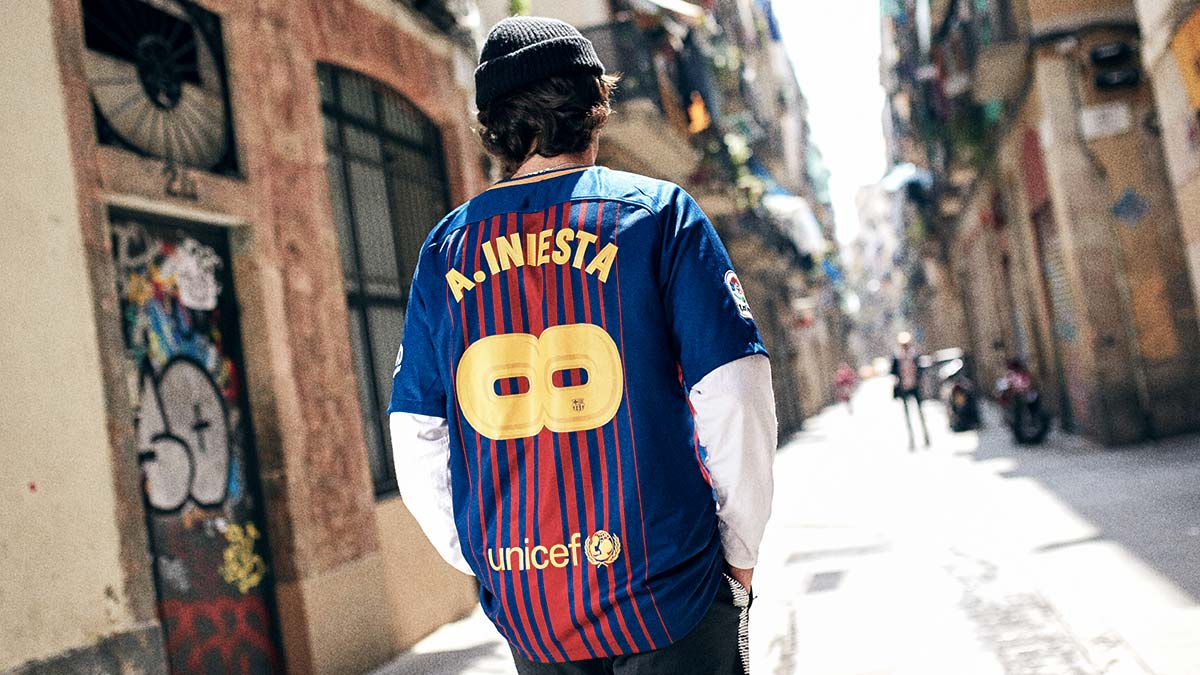 Maillot Andres Iniesta FC Barca Infini