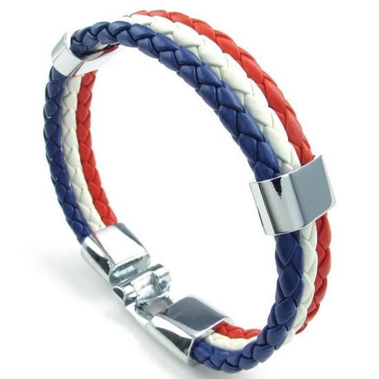 Bracelet Homme Drapeau Français - Prix : 2,19 €