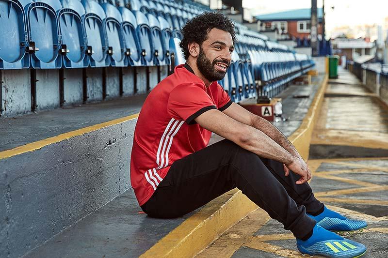 chaussures adidas X18 portées par Mohamed Salah