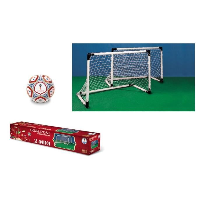 Kit pour enfant 2 Mini Cages But Foot + Ballon coupe du monde