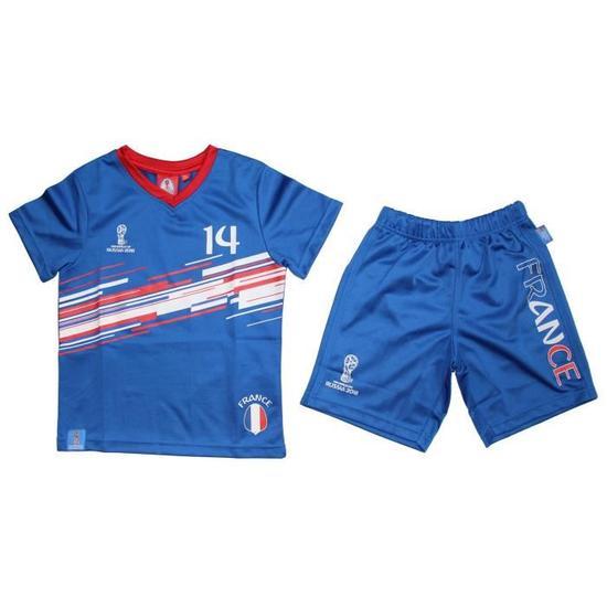 Tee-Shirt France + Short Coupe Du Monde 2018 pour Enfant/Garçon - Prix: 14,99 €