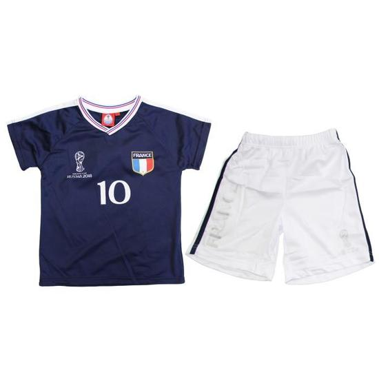 Kit supporter France Enfant - Tee-Shirt + Short - Coupe Du Monde 2018
