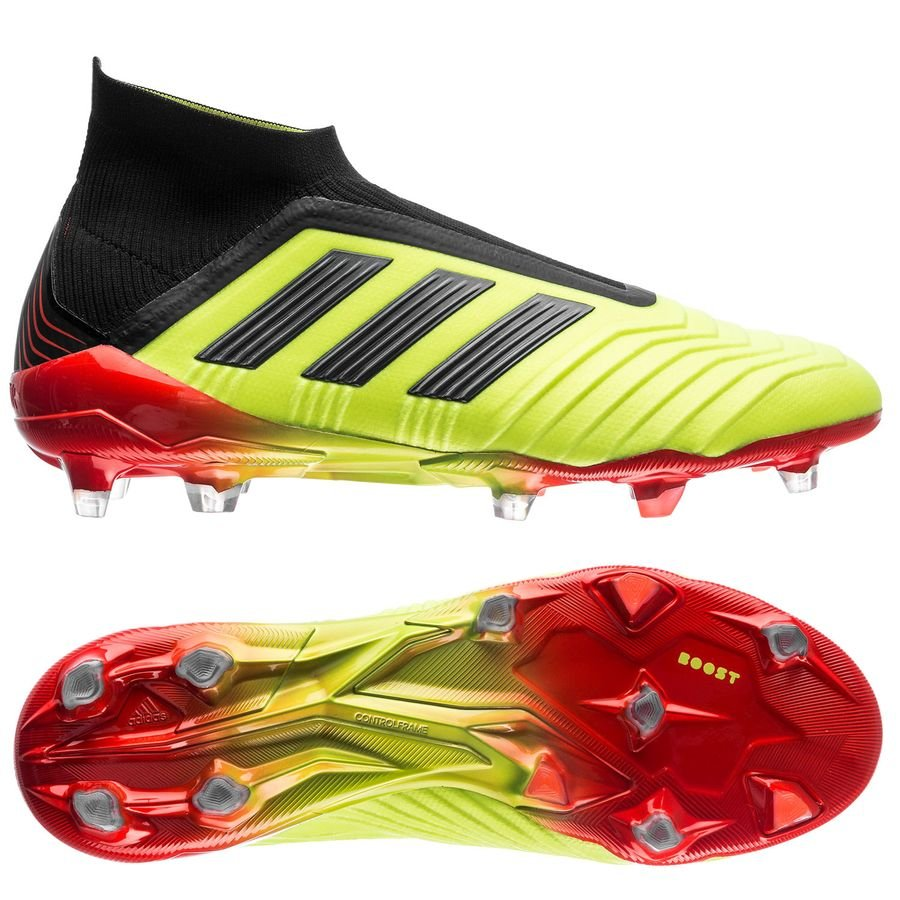 Chaussure de football adidas Predator 18plus Energy Mode Rouge Jaune