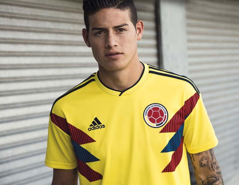 Maillot Colombie Domicile pour la Coupe du Monde 2018