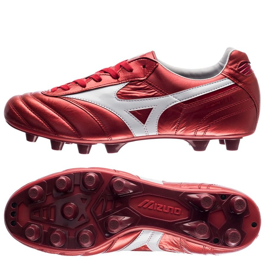 Mizuno Morelia II Made in Japan FG Red Passion Pack - Rouge Blanc