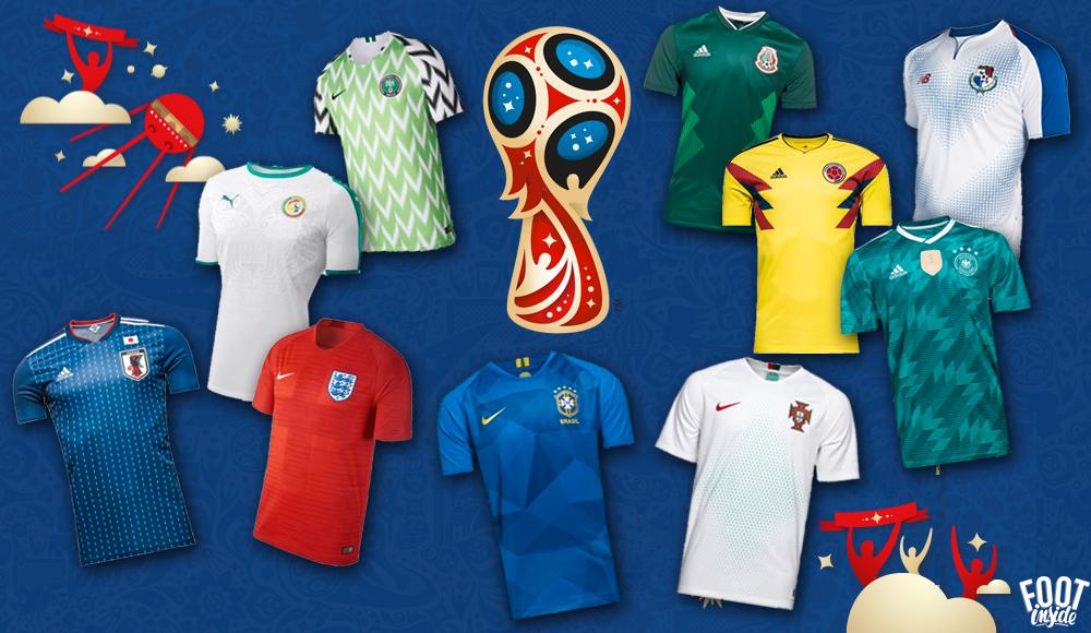 Top 10 des plus beaux maillots de la Coupe du Monde 2018