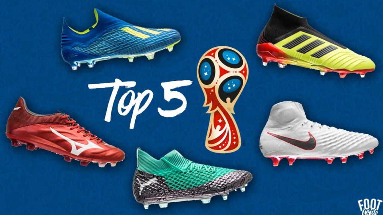 Top 5 des Chaussures de Foot de la Coupe du Monde 2018