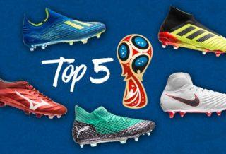 Top 5 des plus belles chaussures de Foot de la Coupe du Monde 2018