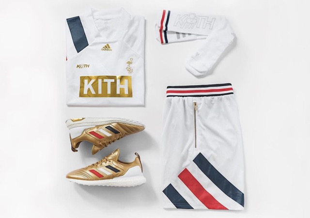 collection capsule KITH X adidas Football Chapitre 3 - Golden Goal