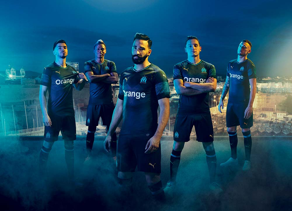 Maillot OM Extérieur Olympique de Marseille - Puma Football - Saison 2018-2019