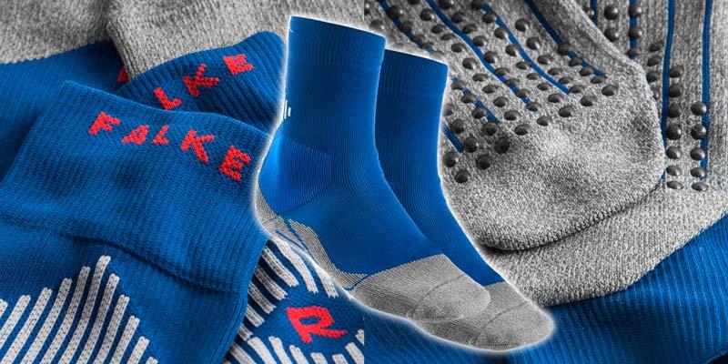 Chaussettes football FALKE Bleu 16030-6451 - Foot Inside