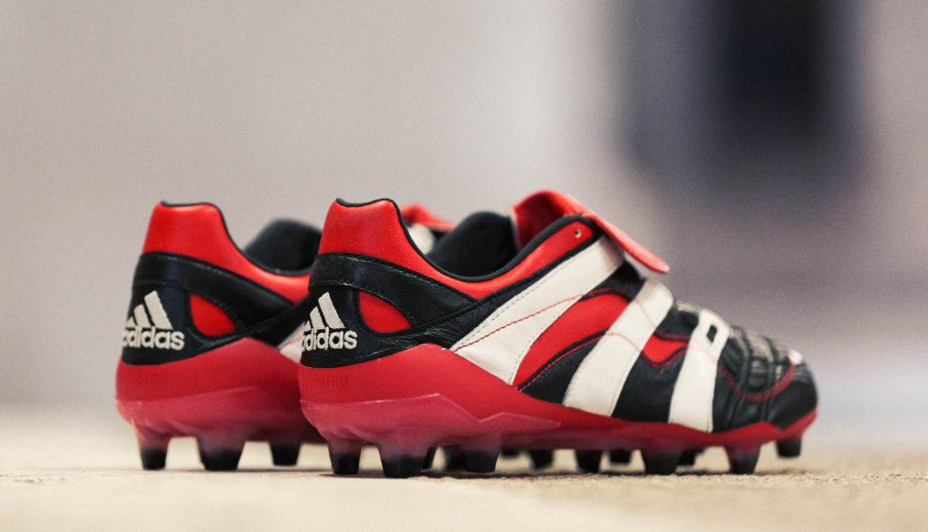 chaussure de football adidas predator accelerator noir rouge blanc