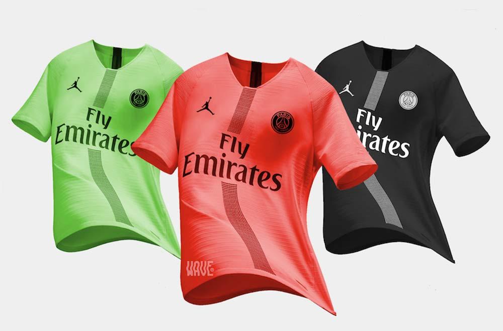 Maillot du PSG en collaboration avec Jordan Brand pour la saison 2018-2019