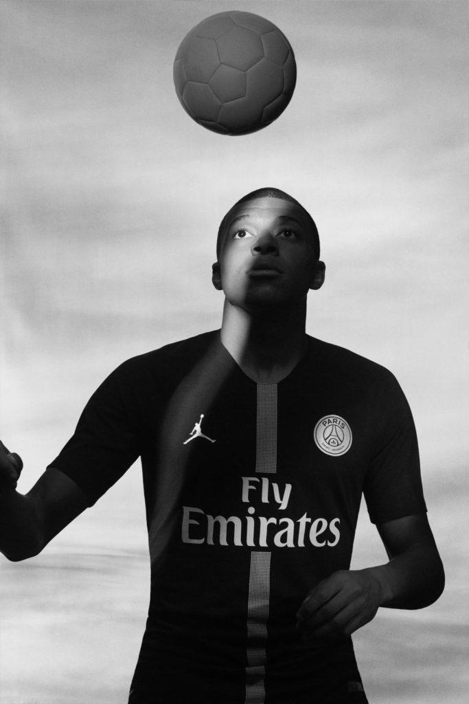 Maillot Mbappé PSG Jordan Noir