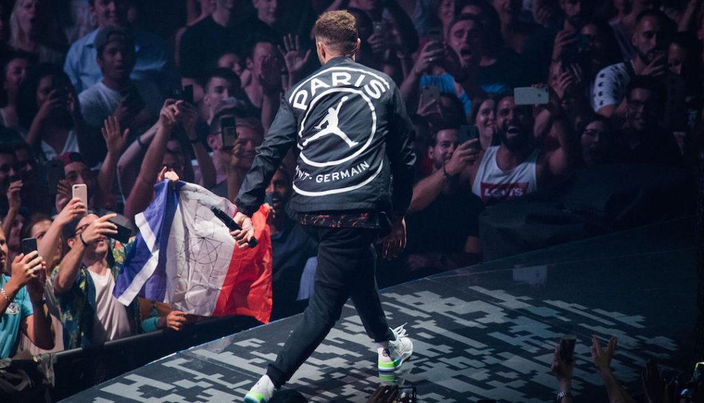 Veste PSG X Jordan Brand portée par Justin Timberlake