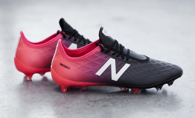 Chaussure de foot New Balance Furon 4.0 Bright Cherry Black