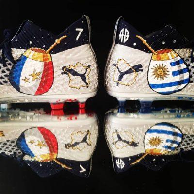 Chaussures de Foot Customisation Orravan Design Antoine Griezmann match France Uruguay