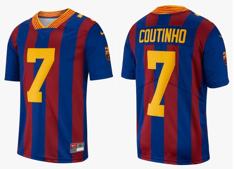 Maillot FC Barcelone NFL Football Américain