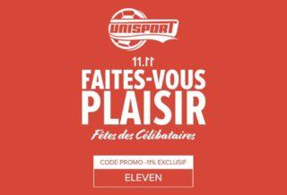 le site 100% Foot Unisport célèbre la fête des célibataires