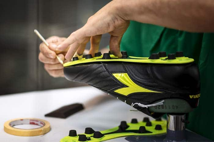 Chaussures de football fait main - made in italy