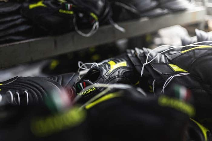 Chaussures de football Diadora fabriquée en Italie