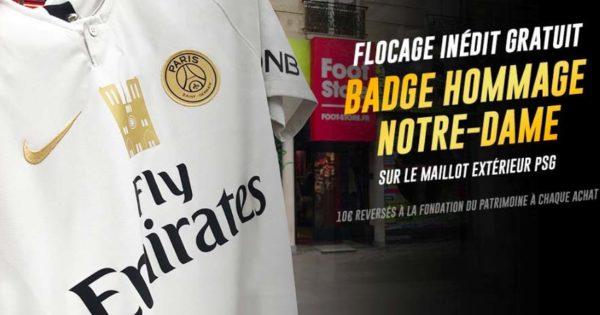Flocage-Badge-Hommage-Notre-Dame-de-Paris-Maillot-PSG