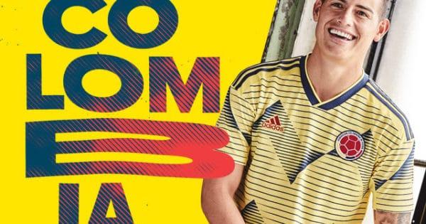 Nouveau maillot de la Colombie 2019