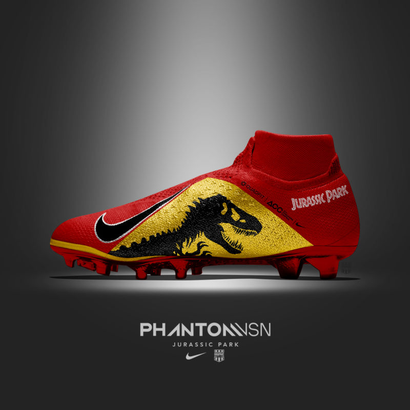 Customisation Chaussure Foot Film CInema Jurassic Park -Graphic-United
