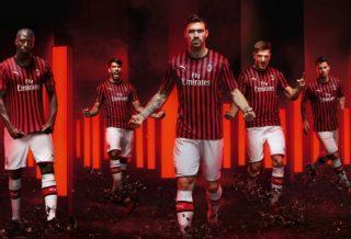 Nouveau Maillot du Milan AC Saison 2019-2020