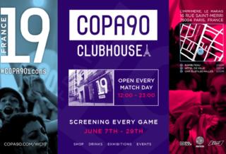 COPA90 ouvre un Clubhouse pour les fans durant la Coupe du Monde 2019