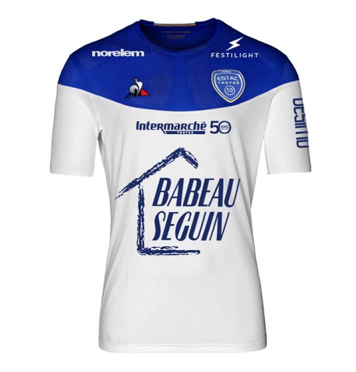 maillot foot ESTAC exterieur 2019-2020 Le Coq Sportif