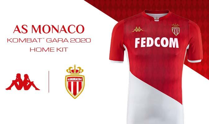 l'AS Monaco dévoile son nouveau maillot domicile signé Kappa