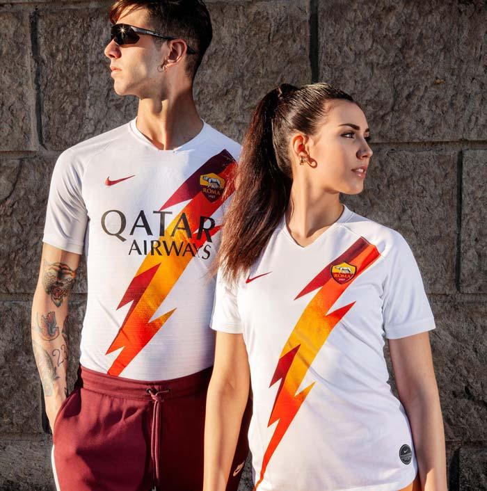 maillot de foot extérieur de l'AS Roma 2019-2020