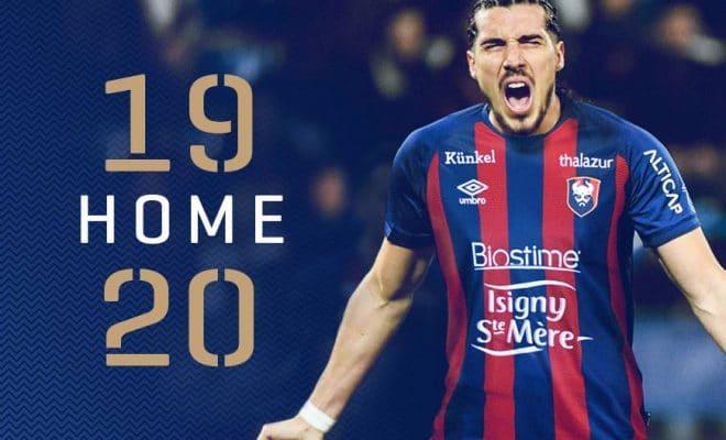 maillot caen domicile 2019-2020