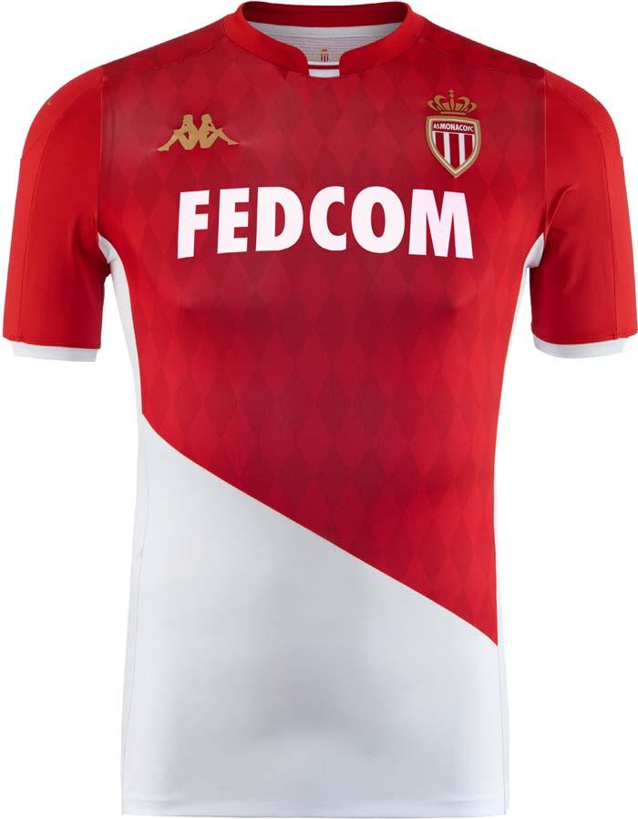 AS Monaco : Nouveau maillot domicile pour la Saison 2019-2020