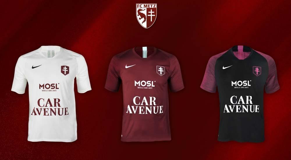 Les nouveaux maillot de foot du FC Metz 2019-2020