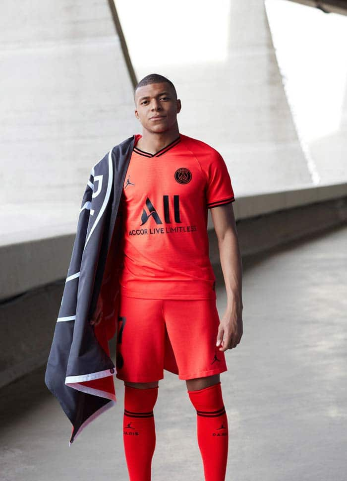 Maillot PSG Jordan Brand Exterieur rouge 2020
