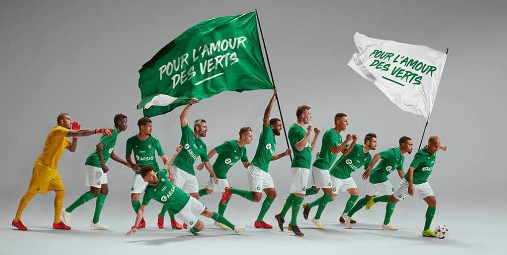 Saint-etienne nouveaux maillots 2019-2020