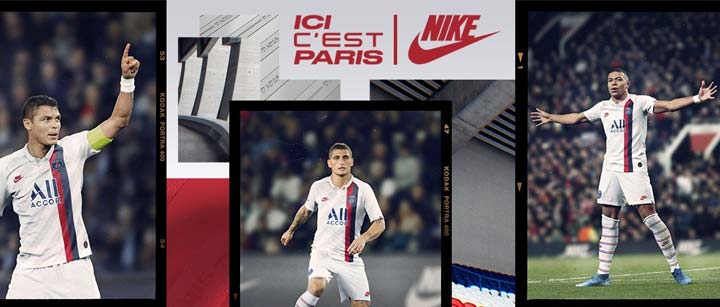 PSG maillot de foot third kit 2020