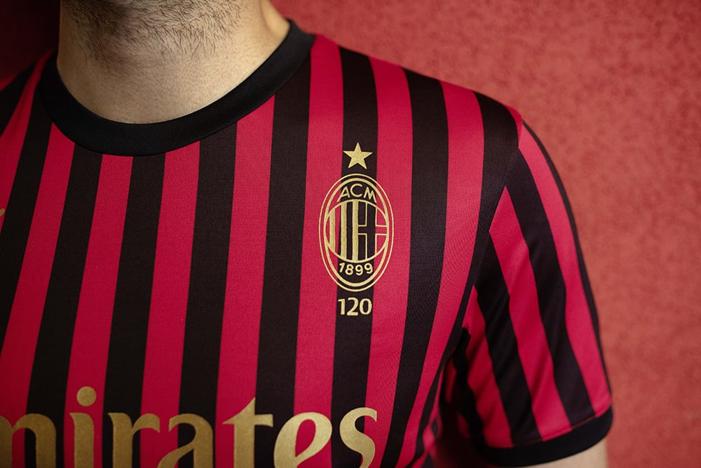 Milan AC maillot de foot 120ans