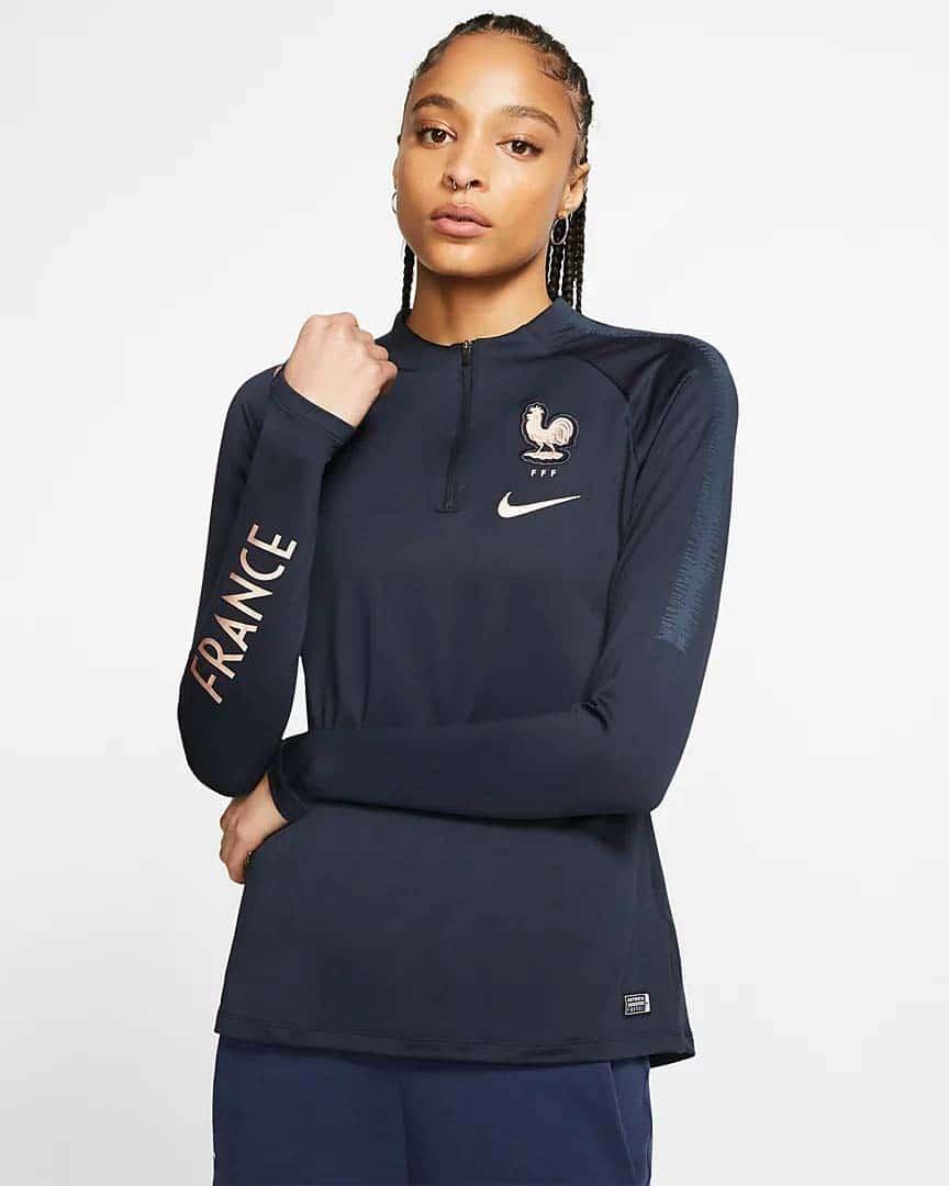 Haut-d-entrainement-de-football-pour-Femme-Equipe-de-France-FFF-Squad