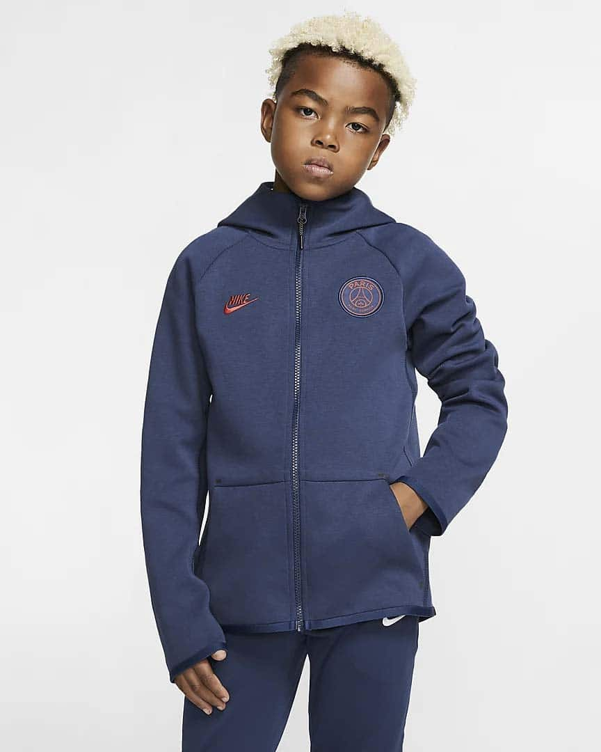 Sweat-à-capuche-PSG-pour-Enfant-Paris-Saint-Germain-Tech-Fleece-Essentials