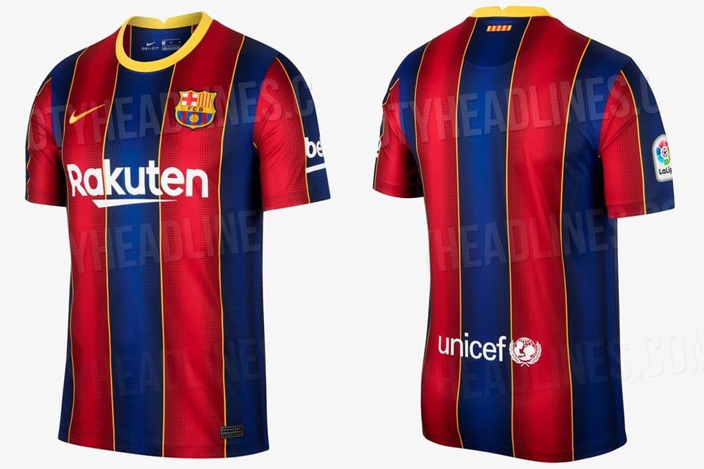 Le maillot du FC Barcelone saison 2020-2021 a fuité