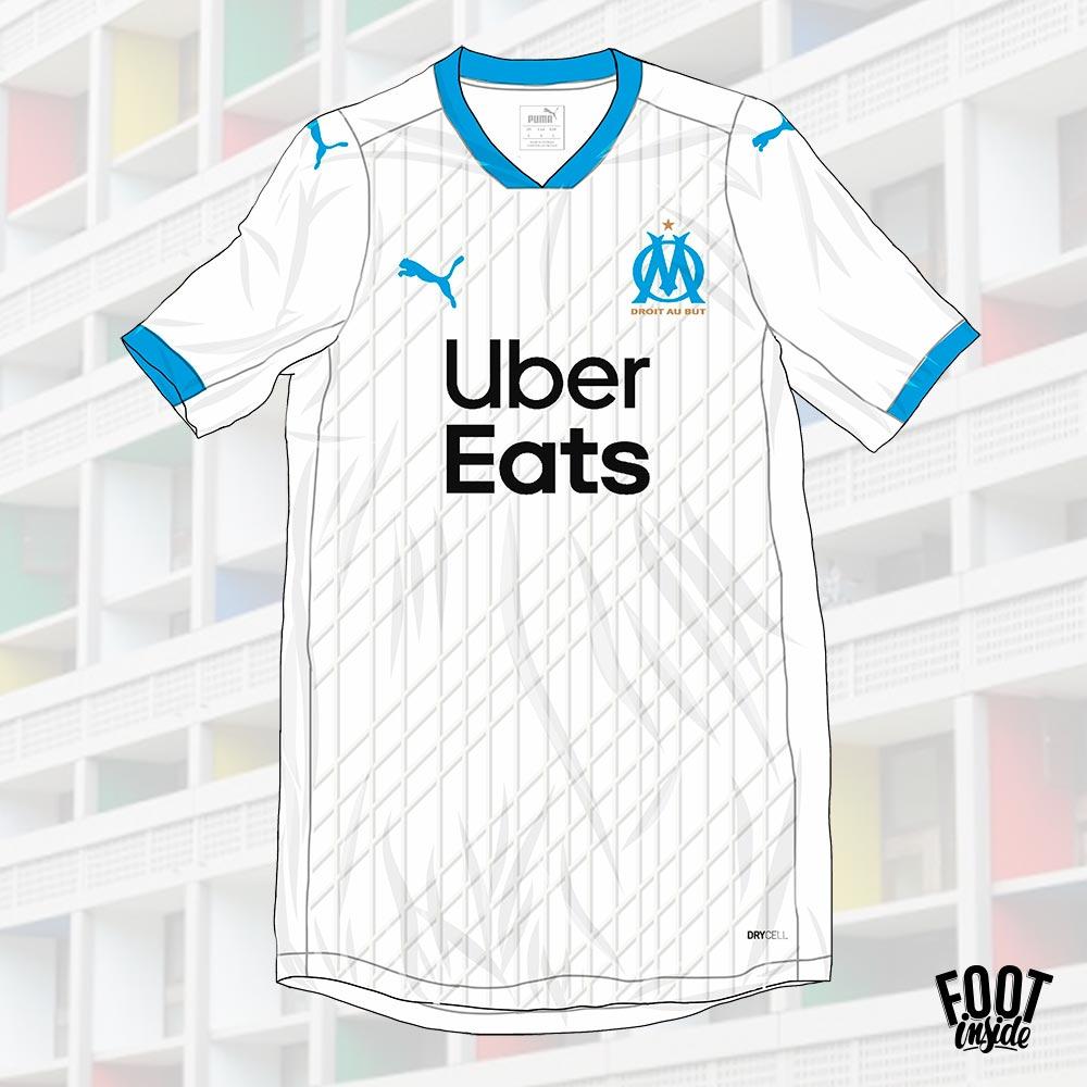 OM : un nouveau maillot domicile inspiré par le travail architectural de Le Corbusier - La Cité Radieuse à Marseille